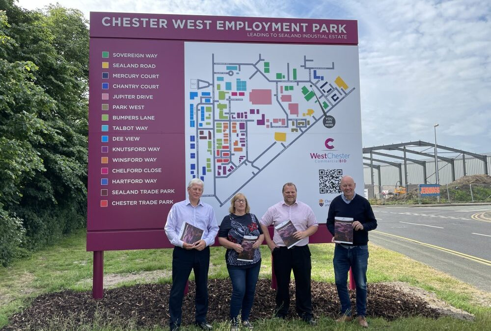 West Chester Commercial BID invests in business park signage